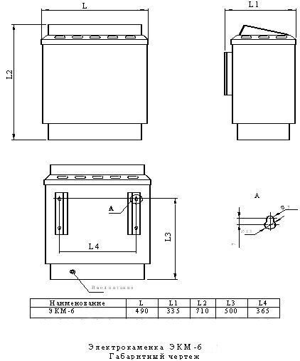 Электрокаменка для бань и саун ЭКМ 1-6