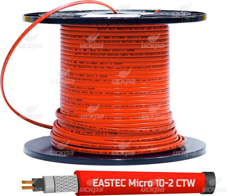 Саморегулирующийся греющий кабель EASTEC MICRO 10 - CTW, SRL 10-2 CR